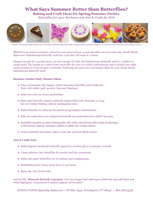 Butterfly Summer Baking and Craft Ideas