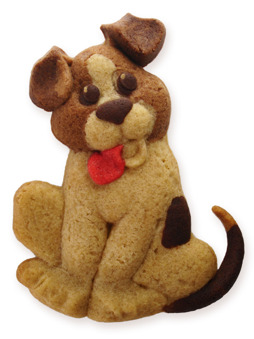 Beagel Puppy Cookie made with ZANDAPANDA's Puppy Mold