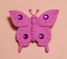 Polymer clay Butterfly Pin