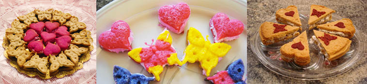 Mini heart-shaped sandwich cookies and ice cream sandwiches made with ZANDA PANDA's Kaleidoscope Heart Mold