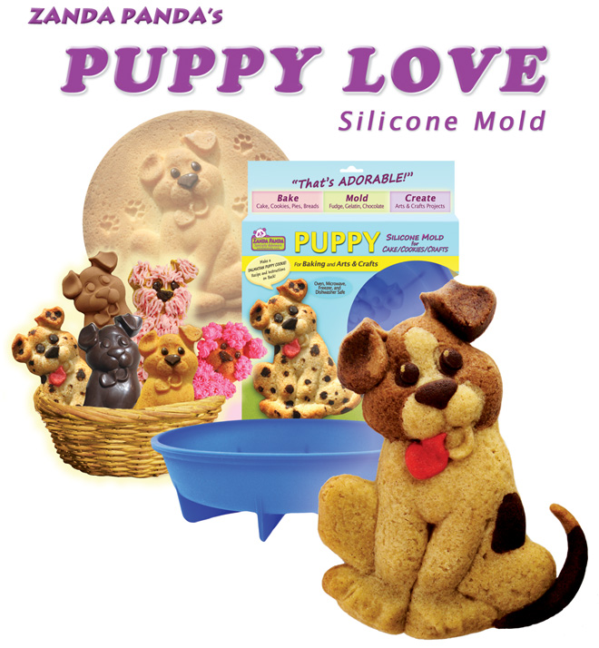 Yellow Lab Puppy Cake made with ZANDA PANDA's Puppy Mold