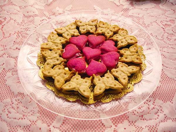 Kaleidoscope Heart and Butterfly Sandwich Cookies made with ZANDA PANDA's molds