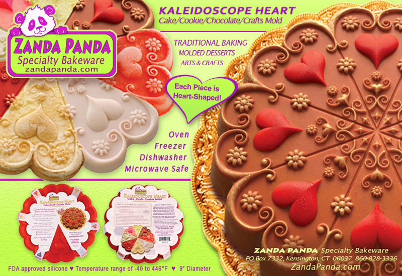 ZANDA PANDA's KAleidoscope Heart Mold for Baking and Crafts