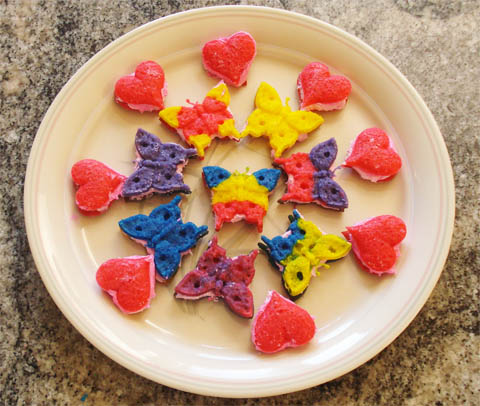 Mini Sandwich Cookies made with ZANDA PANDA's Kaleidoscope Collection Molds